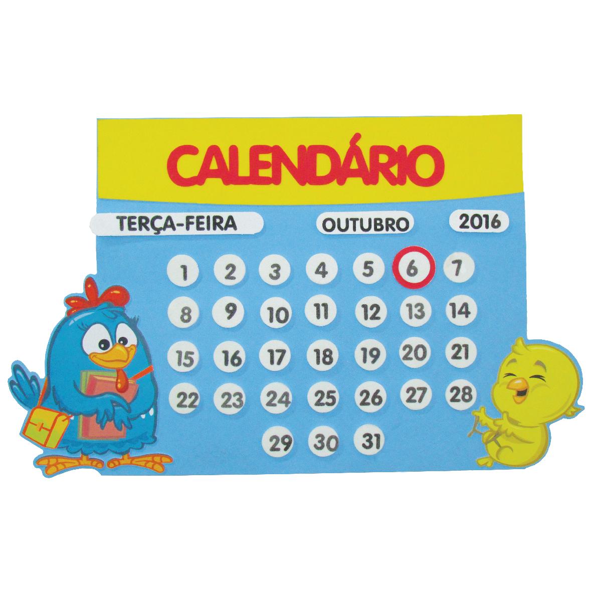 Calendário Galinha Pintadinha  1