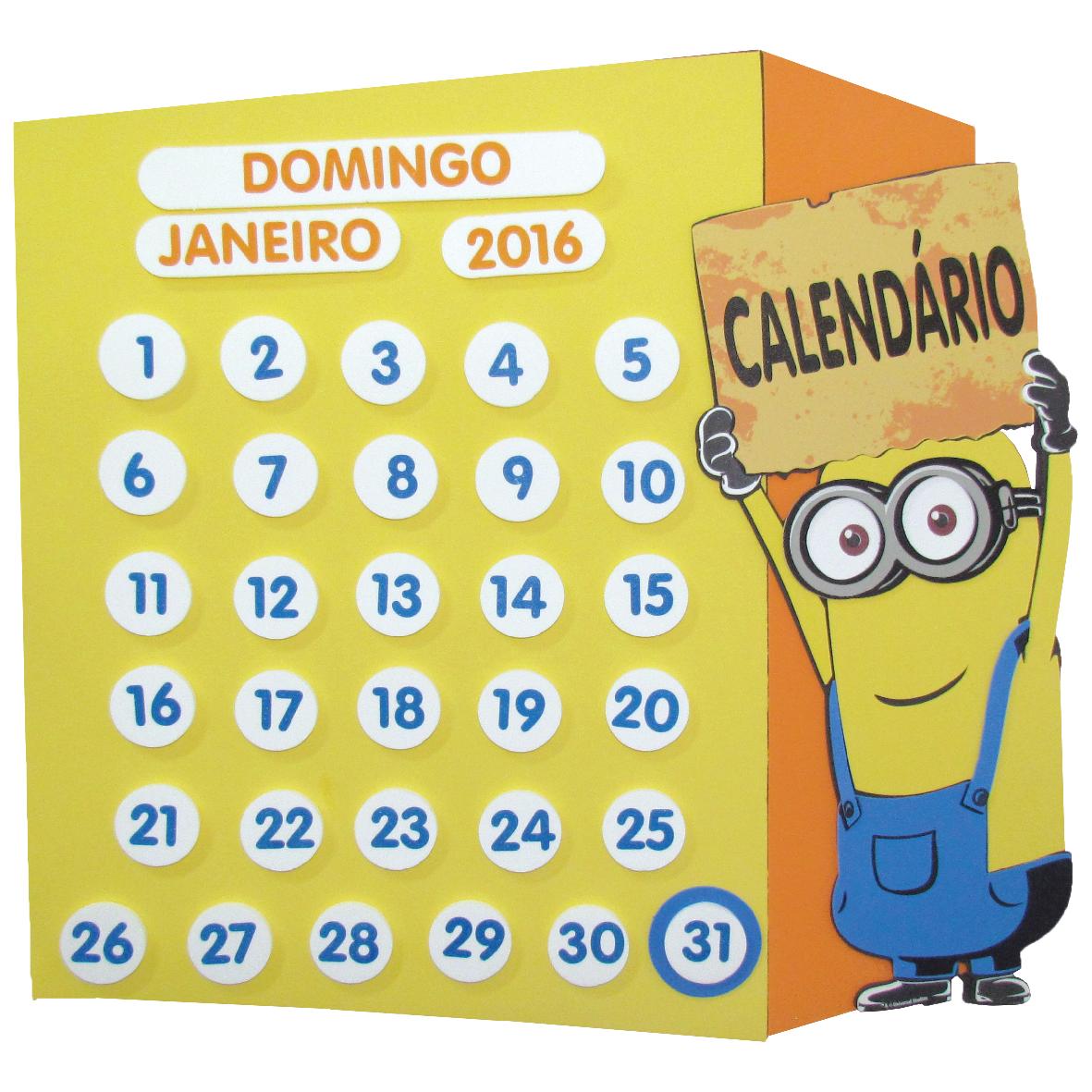 Calendário Minions 1