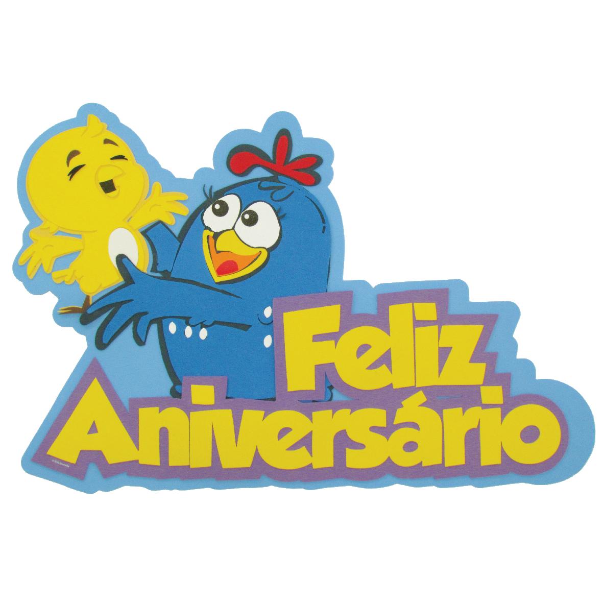 Faixa Feliz Aniversario Galinha Pintadinha 1