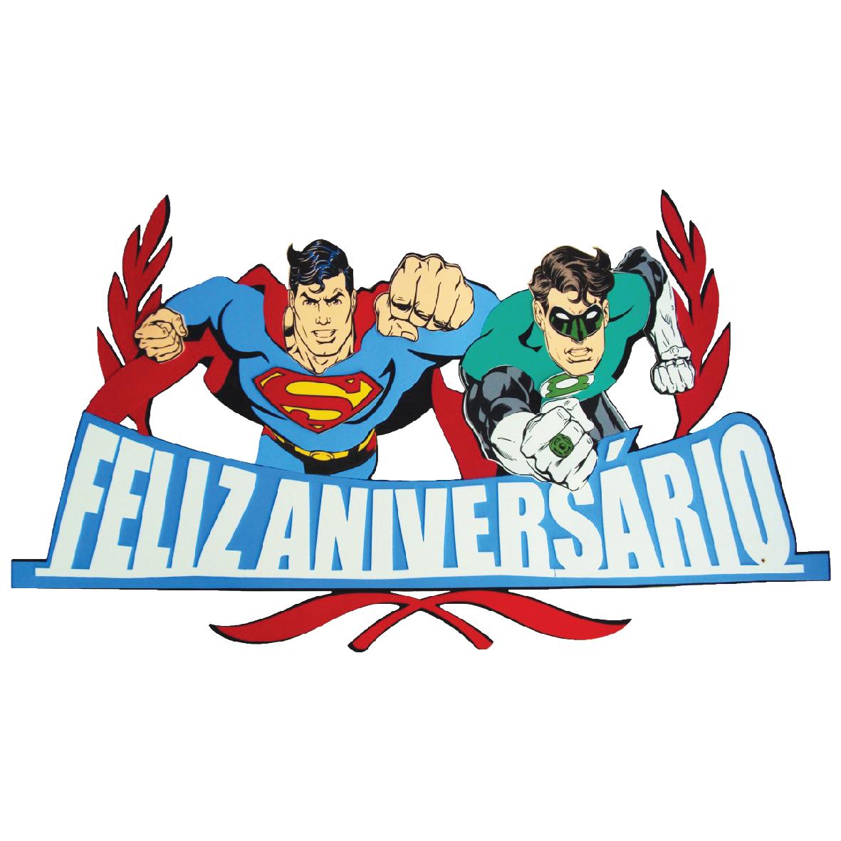 Faixa Feliz Aniversário Liga da Justiça 1
