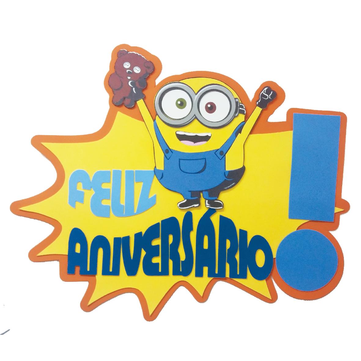 Faixa Feliz Aniversario Minions 1