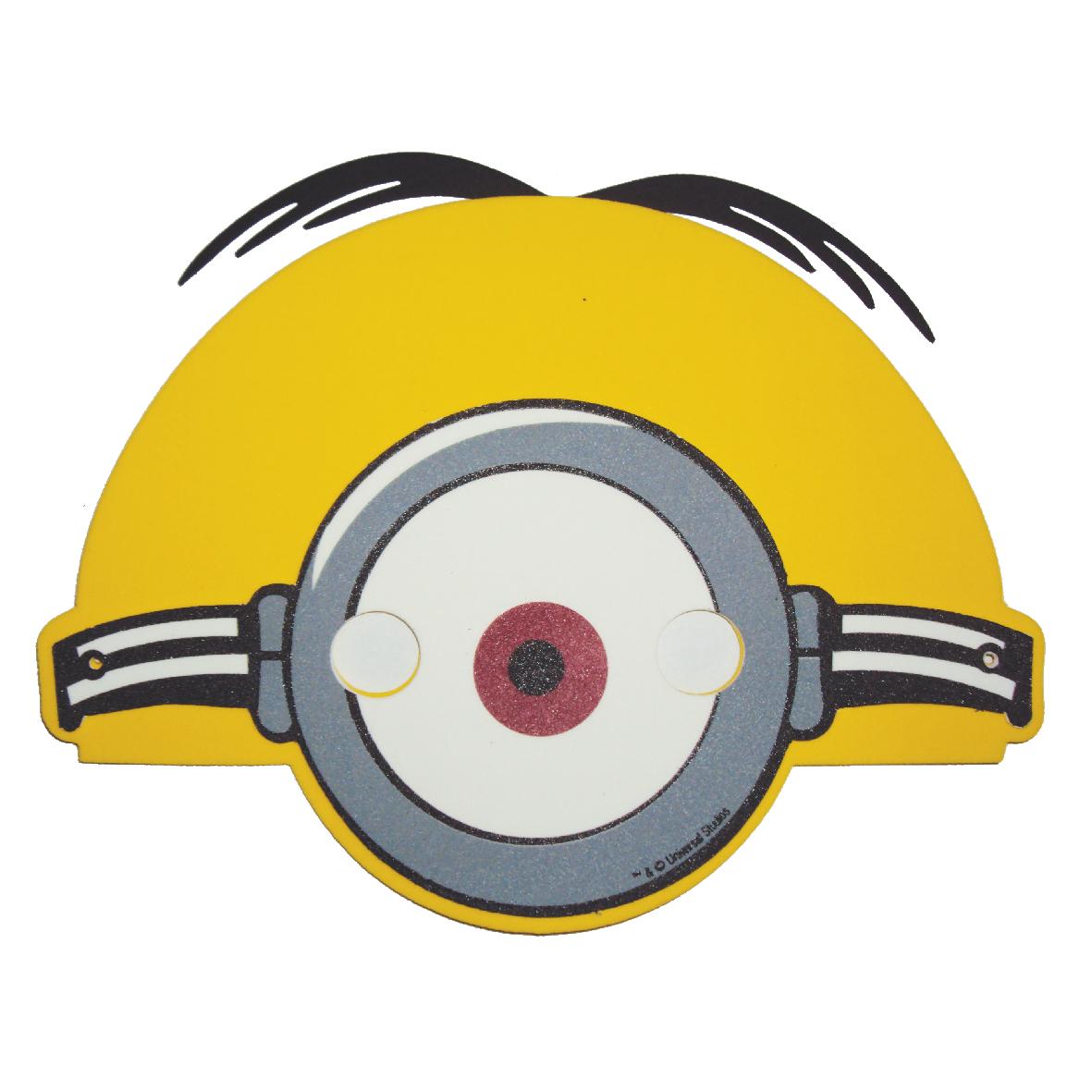 Kit Mascara Minions Com 3 Pecas Eva Tecnica Mascara Em Eva